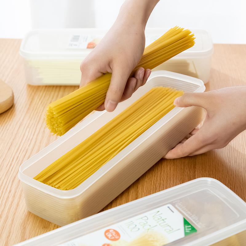 日本进口面条食物密封长方形收纳盒