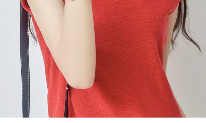 夏季新款!韩版宽松V领短袖针织衫女 26