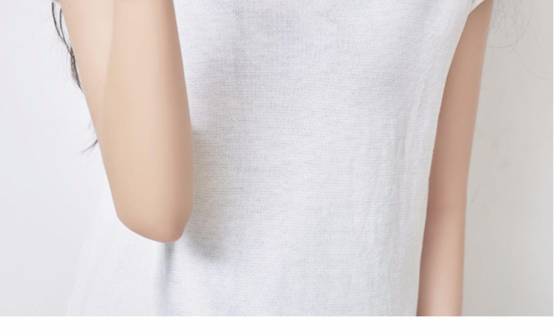 夏季新款!韩版宽松V领短袖针织衫女 22