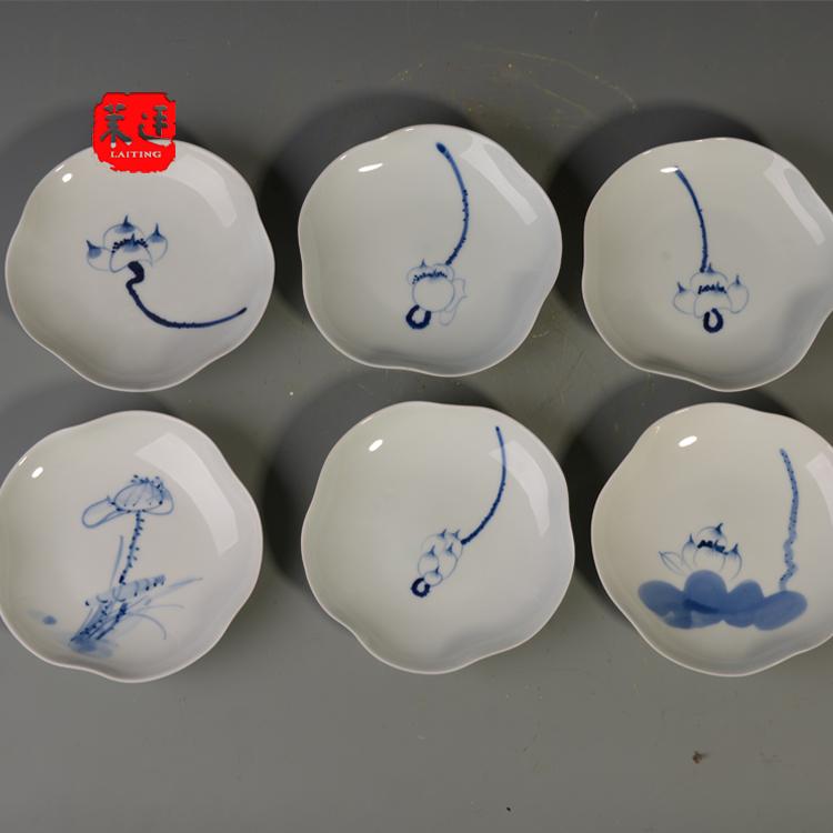 茶点盘茶道中式创意中国风点心碟藤编圆形水果茶点盒客厅家用托盘