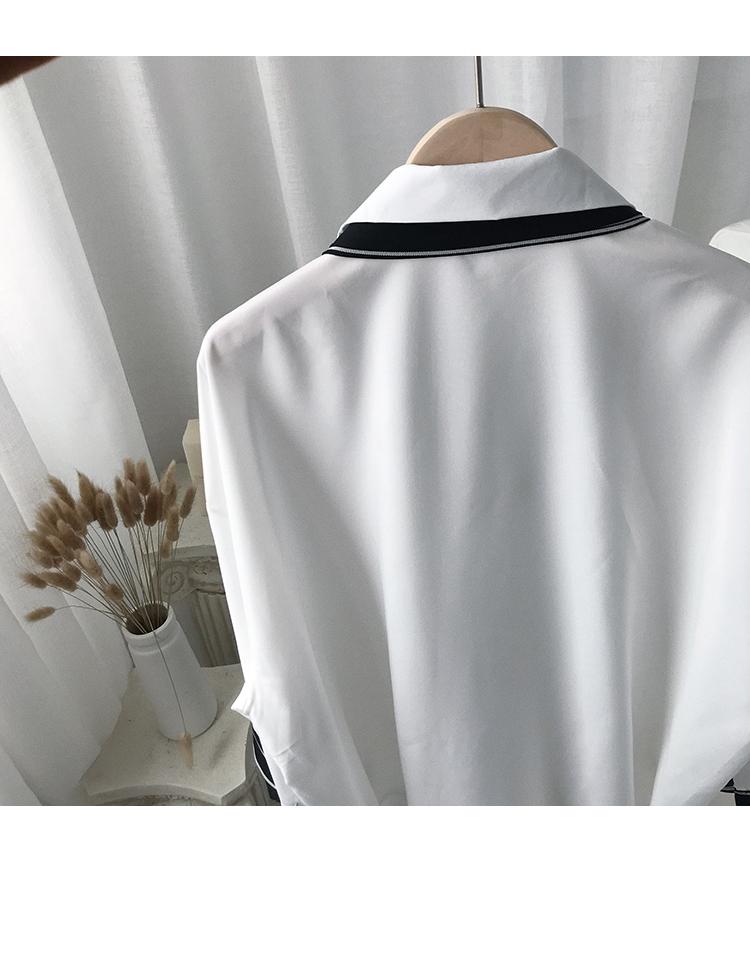 很仙的衬衣设计感网红ins男士七分袖衬衫男韩版潮流帅气百搭上衣