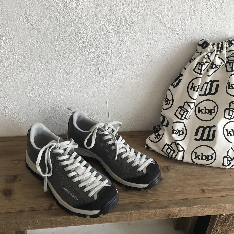 小学生韩国ulzzang网红同款运动鞋黄桃灰色百搭复古低帮跑步鞋冬