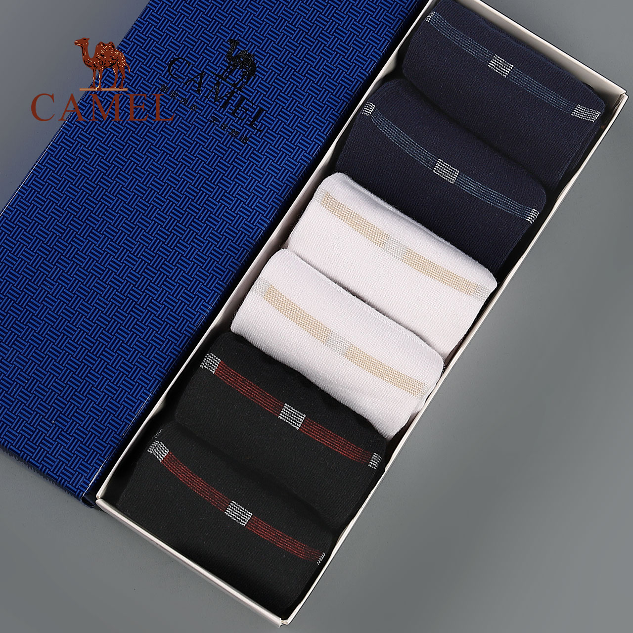 6 pairs of loaded camel socks men's cotton tube socks female autumn and winter boat socks sweat deodorant cotton socks thick stockings tide