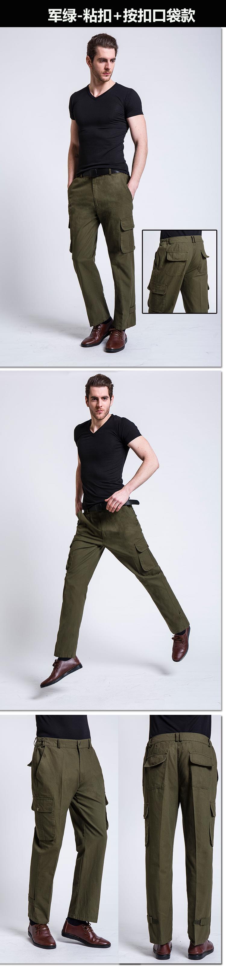 Mùa hè phần mỏng đa túi quần âu nam lỏng lẻo overalls nam quần thẳng người đàn ông ngoài trời của quần kích thước lớn quần quân sự