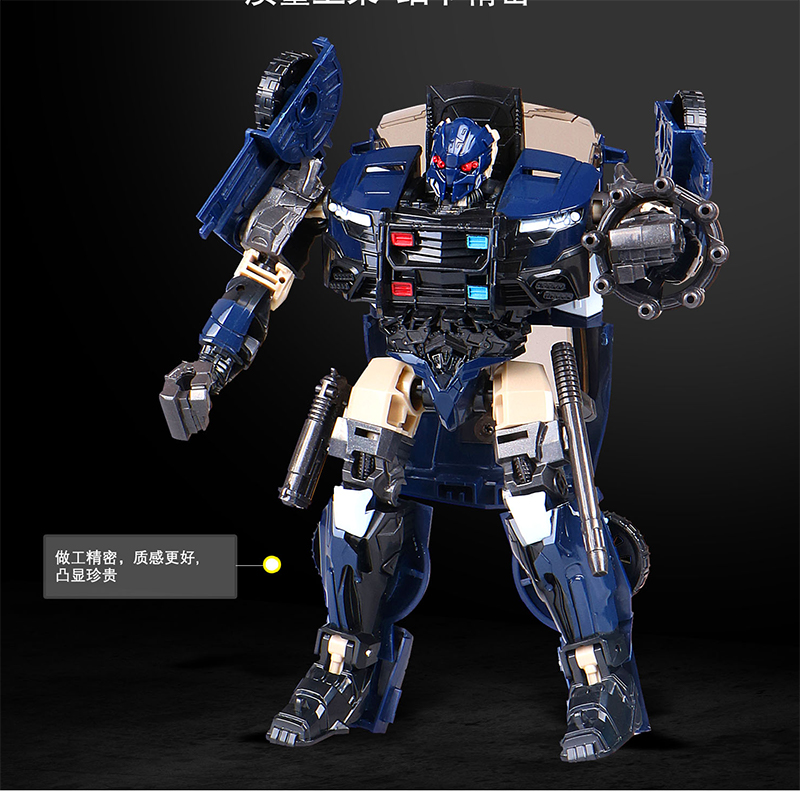 黑曼巴电影版汽车拼装现货金刚5模型警察机器人玩具变形男孩路障