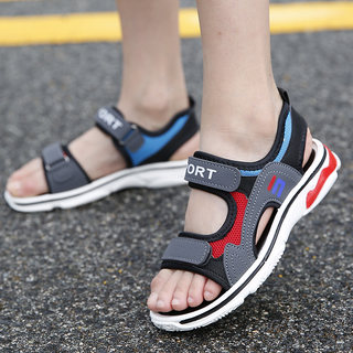 Children's sandals 2020 new boys middle-aged boys Korean baby soft bottom summer beach shoes kids girls shoes