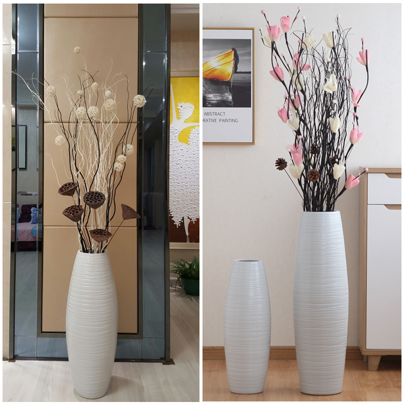 Usd 58 30 Jingdezhen Ceramic Large Vase Ornamental Living Room Dry Flower Arrangement New Home Decoration European Style Simple Modern Large High Floor Wholesale From China Online Shopping Buy Asian Products Online