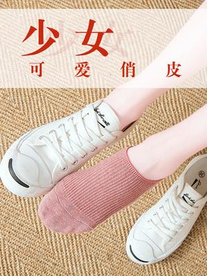 船袜子女士纯棉隐形不掉跟浅口短袜薄款全棉纯色硅胶防滑夏季防臭
