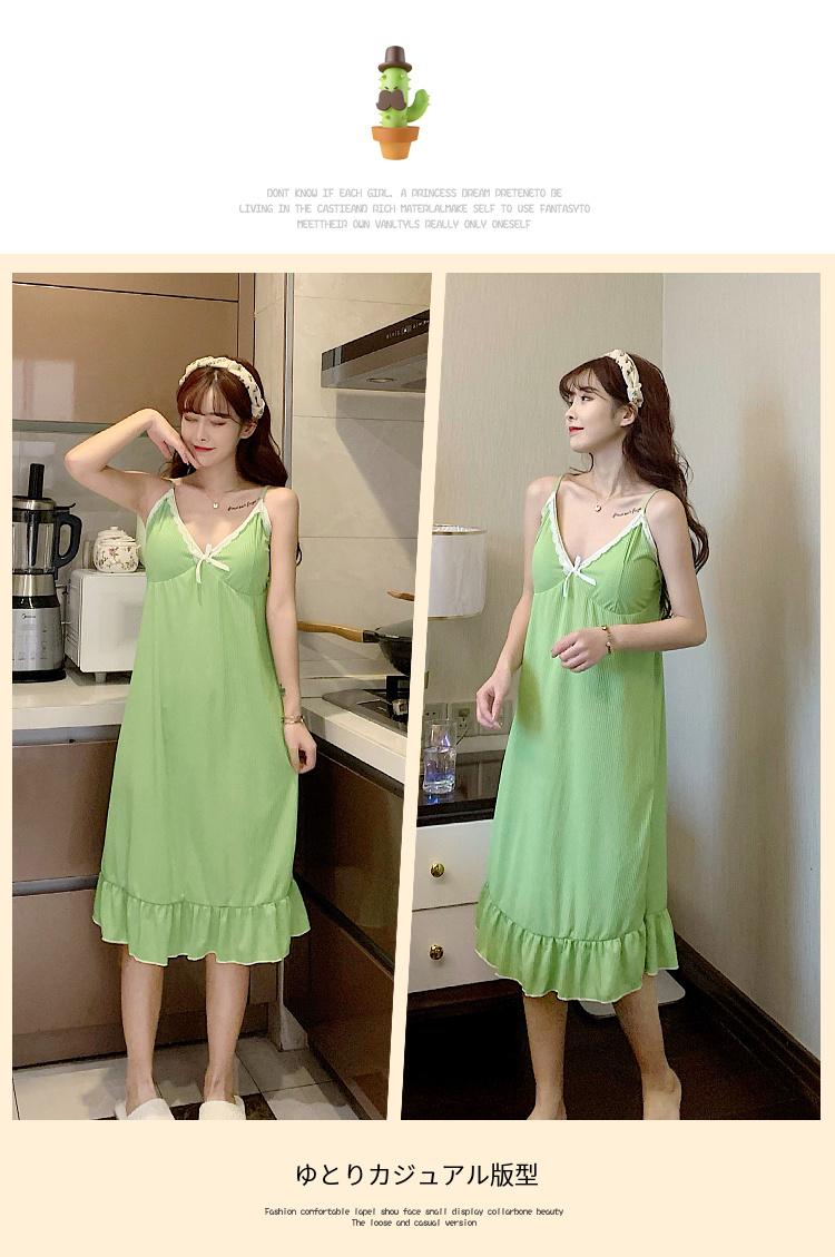 中國代購 中國批發-ibuy99 睡衣女2021新款夏季可爱甜美性感吊带睡裙正品可外穿连衣裙家居服