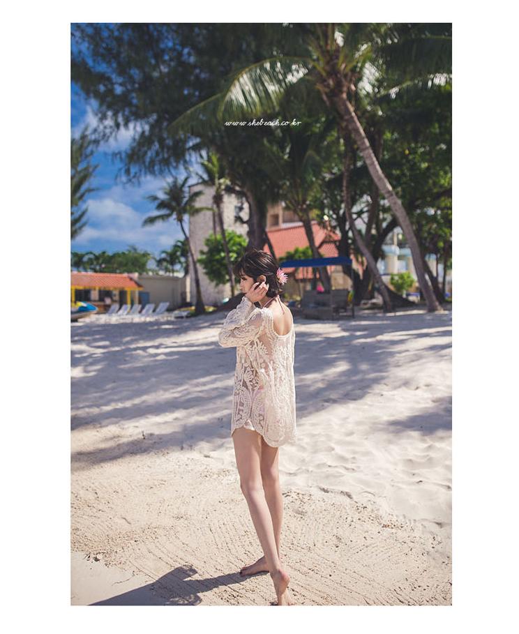Polyester Korea  Bikini  (white) NHXW0100-white