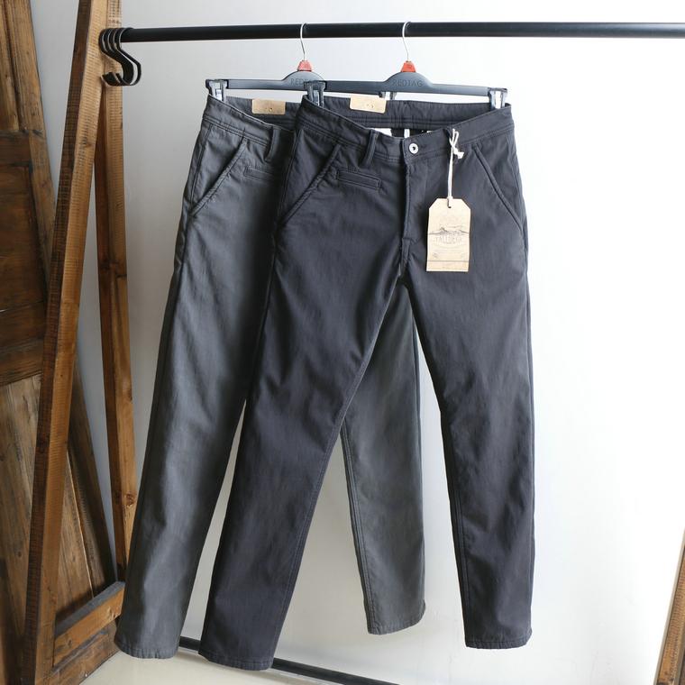 冬款重磅美式休闲裤男加绒加厚修身小直筒弹力保暖工装休闲长裤子