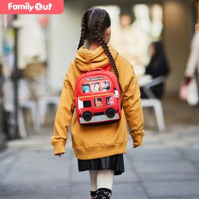 凡米粒幼儿园背包2-5岁潜水料可爱双肩包超轻防水巴士校车书包