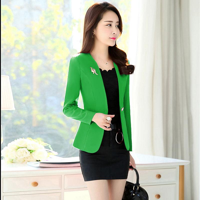 Gửi trâm cài 2020 mùa xuân hè thu đông mới dành cho nữ áo khoác nhỏ phù hợp với phụ nữ phiên bản Hàn Quốc của phần mỏng và mỏng - Business Suit