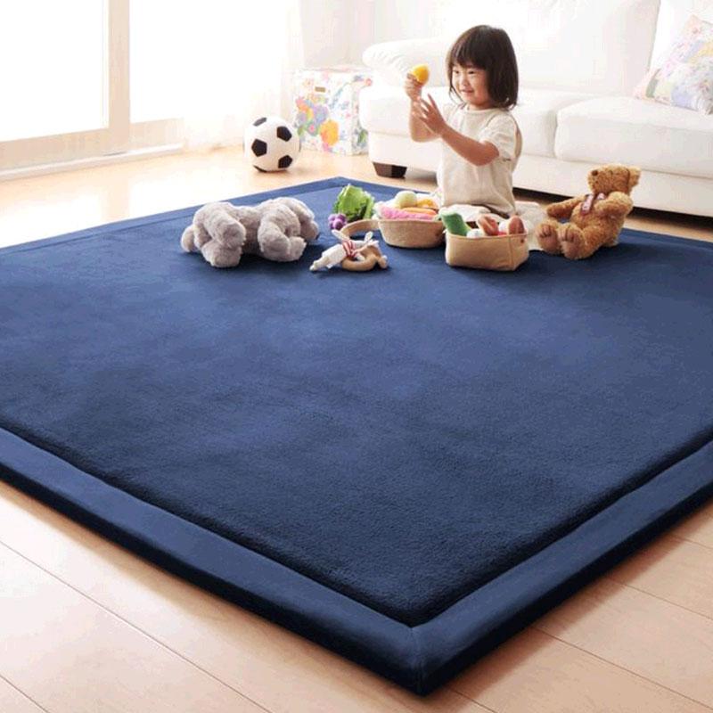 Nhật Bản phong cách dày mat mat bé bò mat chống rơi phòng ngủ phòng khách kang pad tùy chỉnh đầu giường thảm cách âm - Thảm sàn