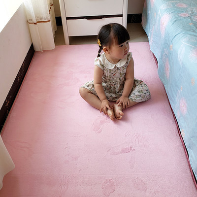 Household short-haired small carpet bedroom full of cute children crawling mat bedside bed cushion girl room floor mat