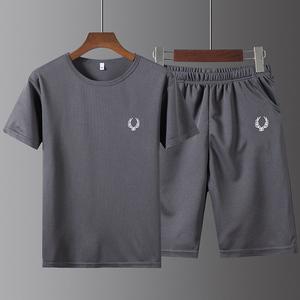 夏季男士运动T恤短袖短裤2件套装
