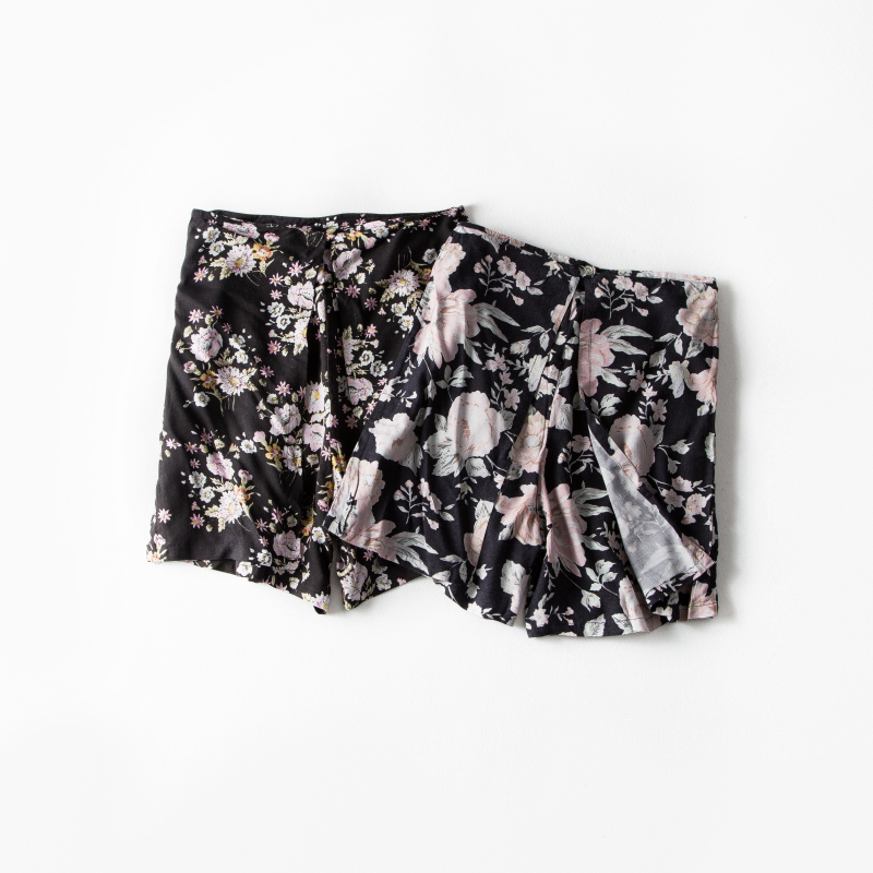 Foreign trade new pastoral wind small lace skirt women short summer high-waisted skirt pants loose wide-legged pants big-footed trouser skirt