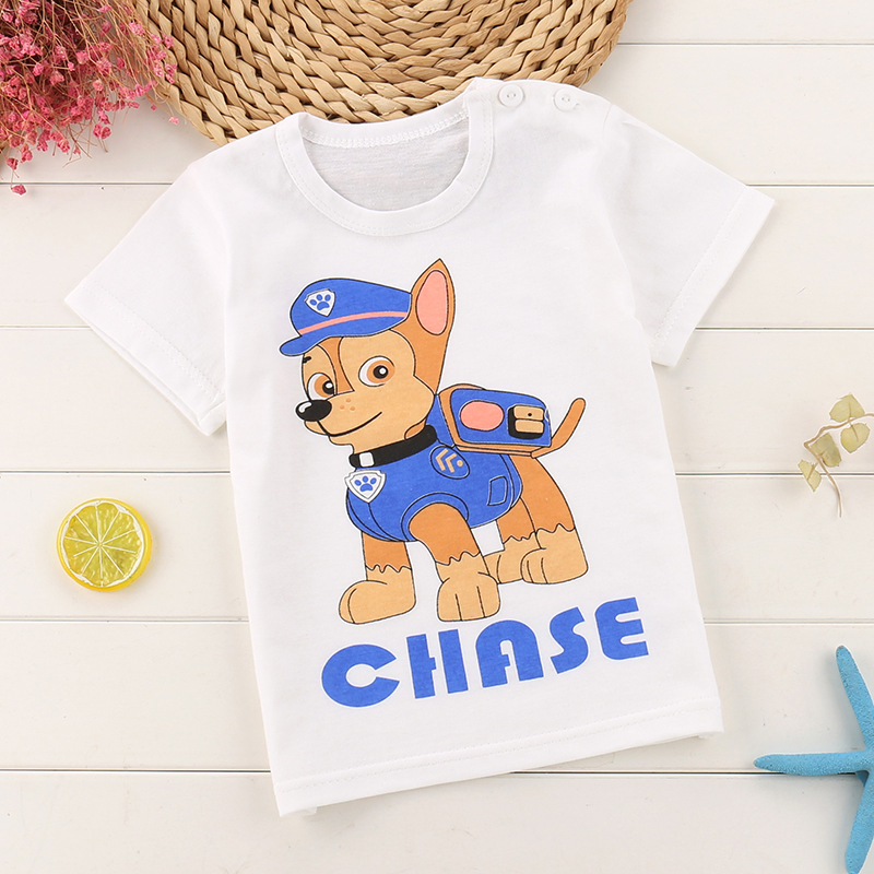 482ceec7d USD 11.44  Boys and girls T-shirt thin baby short-sleeved shoulder ...