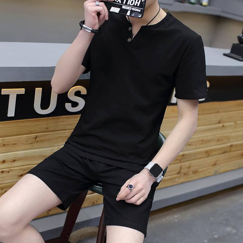 2018夏季新款男士短袖t恤棉