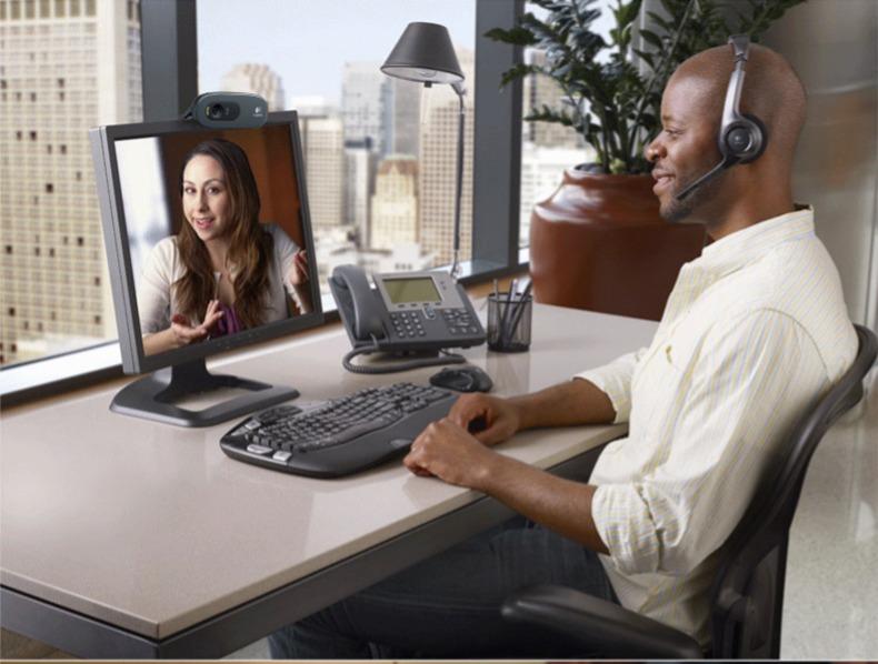 罗技C270/I网络高清摄像头笔记本台式电脑网课教学上课实名制带麦