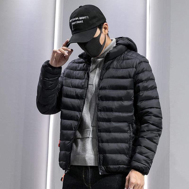 外套棉服棉袄2020新款修身潮牌帅气棉衣短款羽绒学生轻薄连帽男士