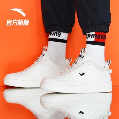 安踏板鞋男鞋韩版潮2021秋冬季新款厚底鞋子休闲运动鞋男士小白鞋