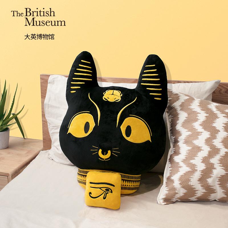 大英博物馆埃及神猫靠枕,家居创意礼物