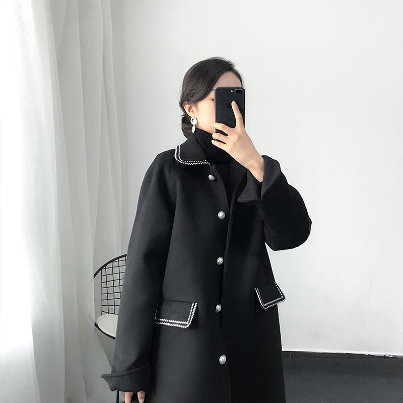 Áo len nữ Xiaoxiangfeng dài phần 2019 mùa đông mới Hàn Quốc khí thời trang áo khoác len mỏng hoang dã - Áo khoác ngắn
