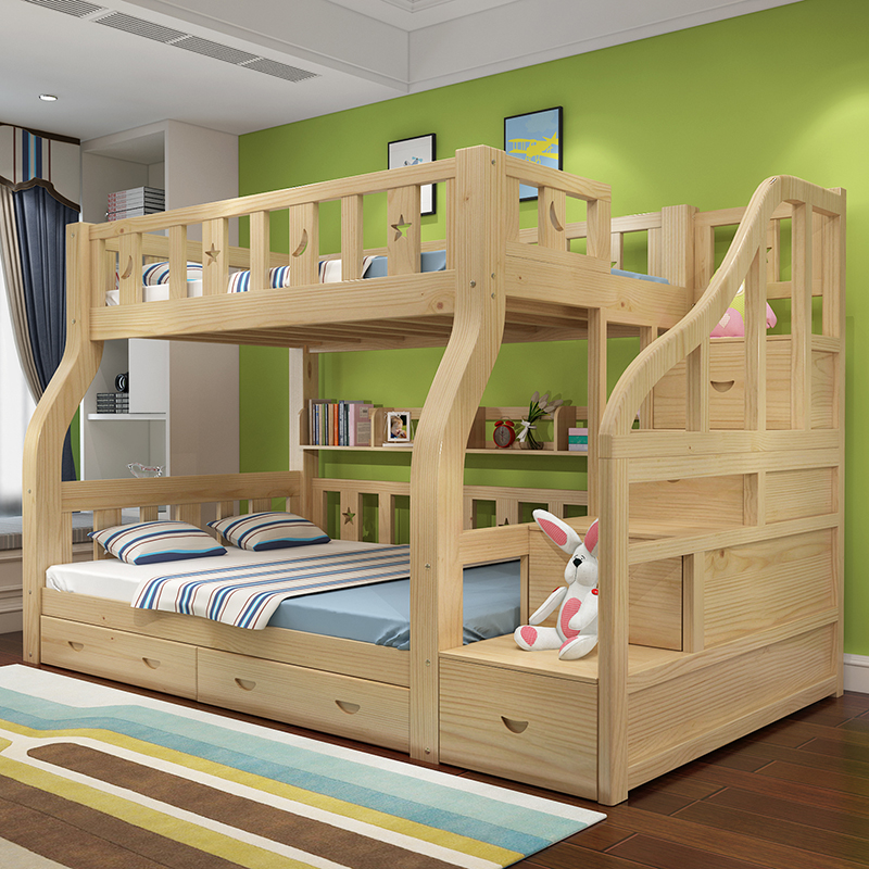 High And Low Bed Solid Wood Bed Bed Bunk Bed Children S Bed Bunk