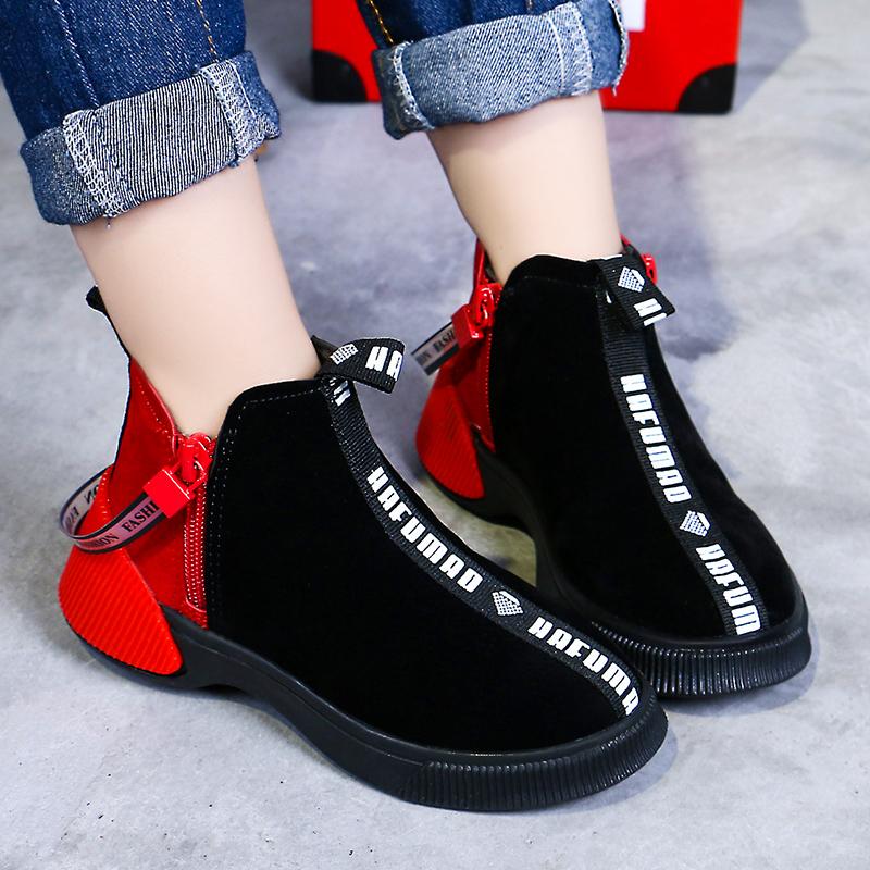 女童靴子2018新款秋冬季童鞋韩版公主短靴加绒中大童儿童马丁靴潮