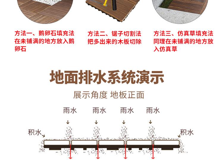 阳臺地板自铺改造室外防腐木地板户外露臺庭院露天拼接室内纯实木详细照片