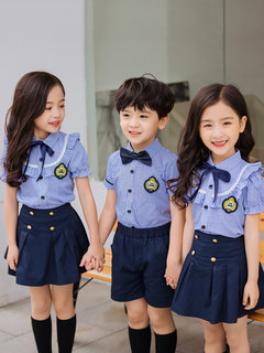Kindergarten children's clothing summer graduation photo class service sixty-one costume skirt suit British style uniforms pupils