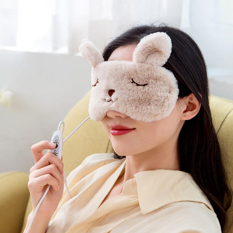 蒸汽眼罩usb充电加热热敷睡眠遮光女缓解眼疲劳发热卡通学生护眼