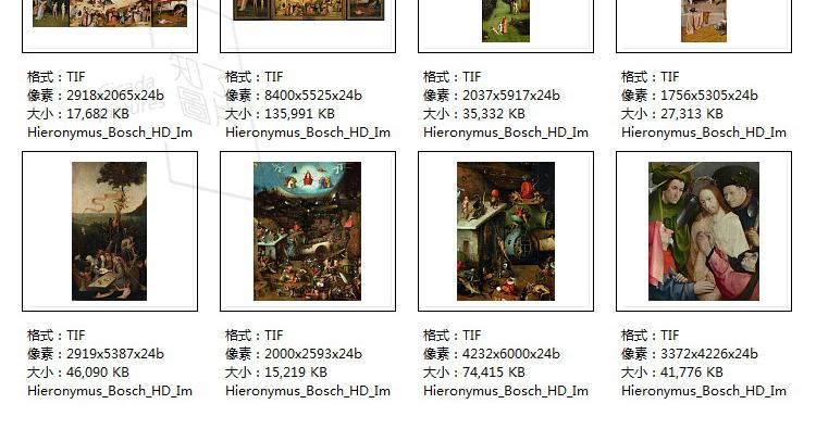 博斯 油画图片素材电子版超现实主义喷绘打印临摹装饰画教学插图(25)