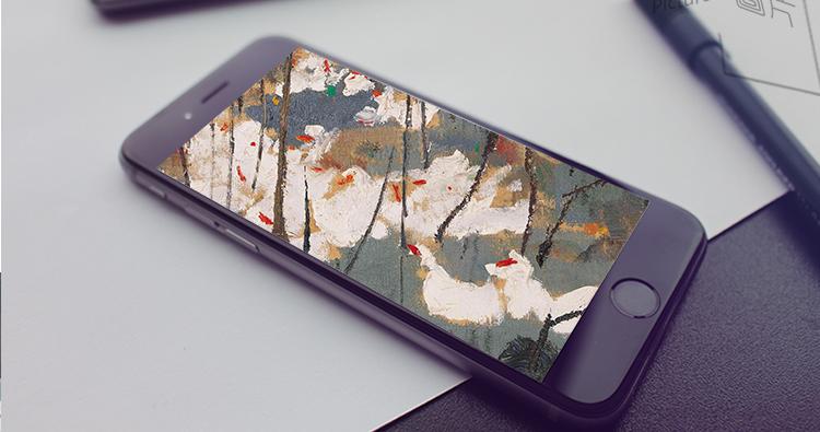 吴冠中 油画国画高清电子版 水墨画临摹装饰画喷绘装饰素材插图(19)