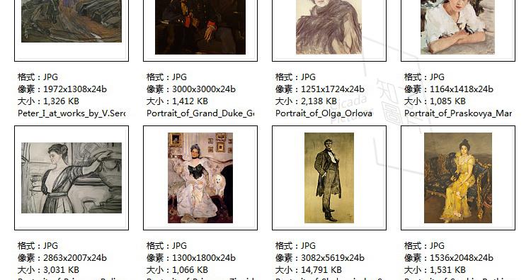 赛洛夫油画高清电子图片俄罗斯写实人物教学临摹喷绘装饰画芯素材插图(28)