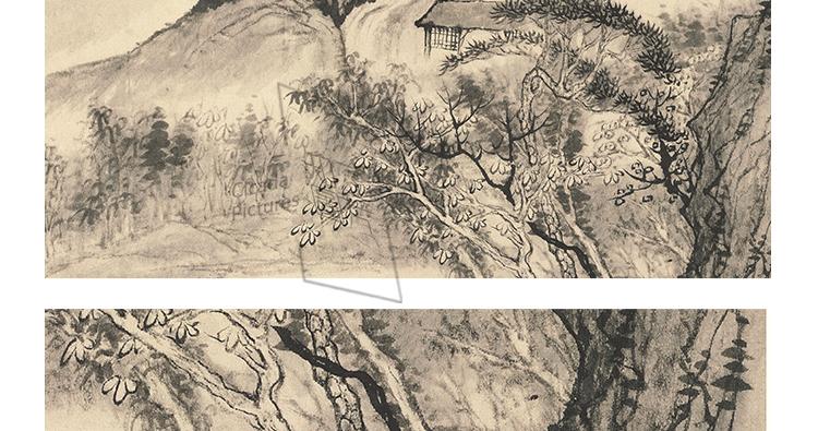 石涛国画高清图片电子版精册页小品教学临摹装饰画芯设计喷绘素材插图(8)