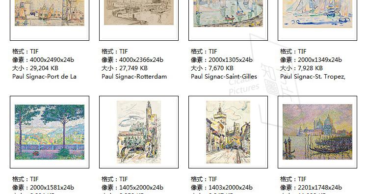 西涅克 高清油画图片素材电子版教学临摹打印喷绘参考大图装饰画插图(27)