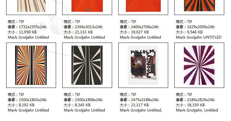 格罗蒂扬油画高清素材电子版现代抽象几何临摹喷绘打印素材作品集插图(26)