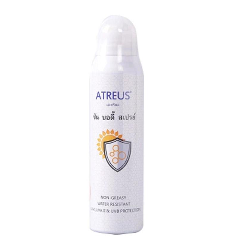 泰国ATREUS牛奶嫩白防晒喷雾SPF50防水保湿防晒霜清爽不油腻