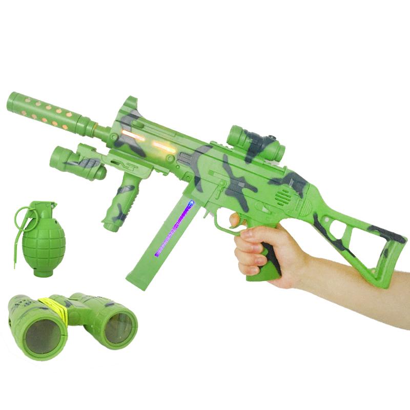 【天天特价】飞航小小部队FH112儿童电动玩具冲锋手枪声光机关枪