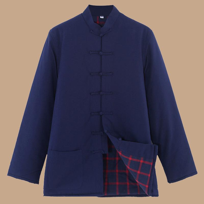 中老年人唐装冬装男式棉袄外套外穿加厚盘扣a唐装棉服青年棉衣汉服