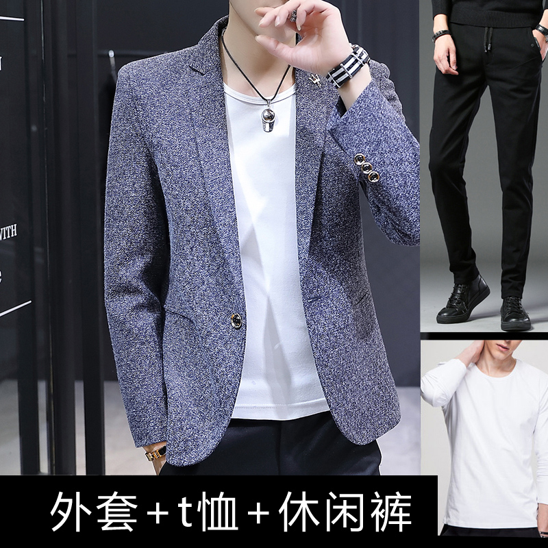 [1802] NAVY [JACKET + T-SHIRT + PANTS]