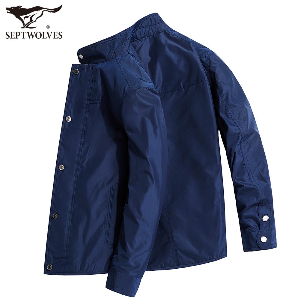 七匹狼男装夹克衫2018春季新款时尚棒球领中年男士薄款男式外套潮