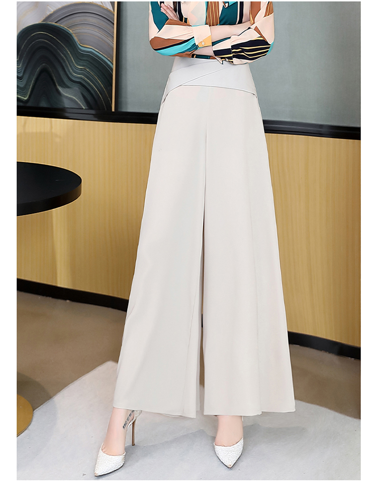 时尚潮流舒适裤子高腰2020年春季休闲纯色个性优雅