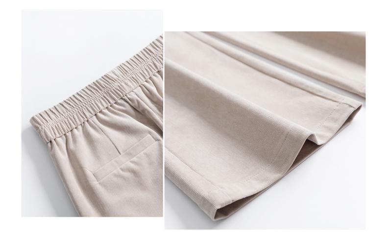灯芯绒裤子女2020新款女裤直筒宽腿条绒阔腿裤女高腰垂感拖地长裤
