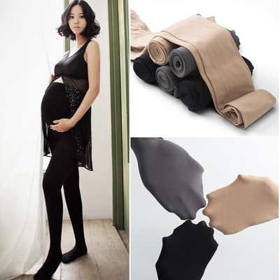 Pregnant women's stockings can be adjusted to support the belly, thin spring, pregnant women's leggings with feet, trousers, step pants, spring and autumn