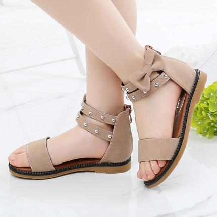 女童凉鞋2019夏季新款韩版时尚小公主儿童罗马鞋中大童学生沙滩鞋