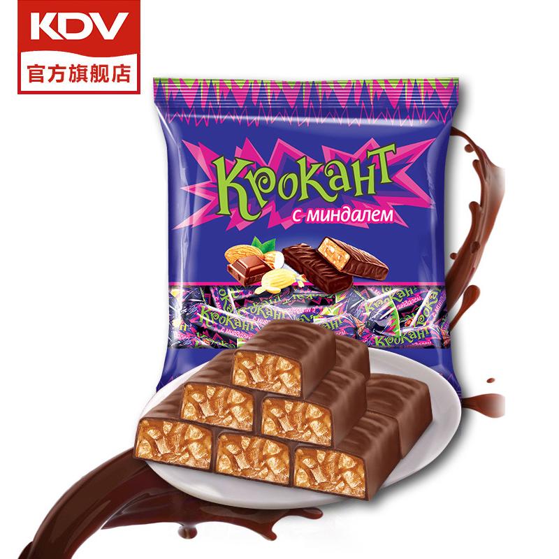 KDV俄罗斯进口紫皮糖旗舰店正品原装巧克力糖果休闲零食散装喜糖