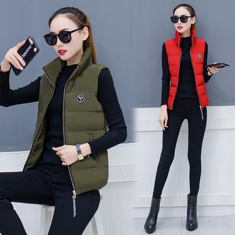 冬季韩版羽绒棉服背心马甲外套